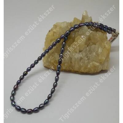Édes vízi tenyésztett  gyöngy (ezüst szerelékkel)