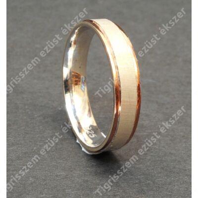 Ezüst  férfi karika gyűrű   66-os