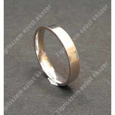 Ezüst  férfi karika gyűrű   65-ös