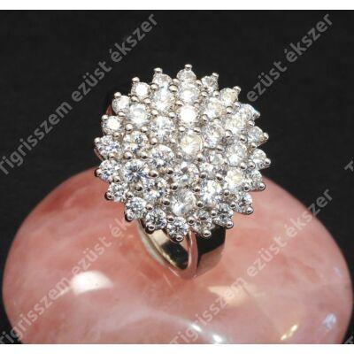 Ezüst gyűrű,női, fehér cirkóniával 54-es