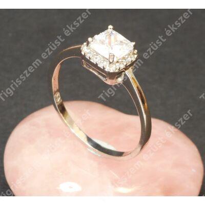 Ezüst gyűrű ,női ,fehér cirkóniával 63-as
