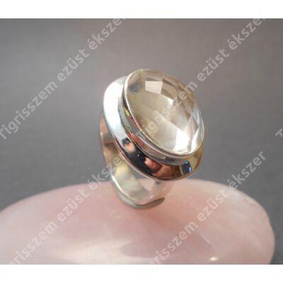 Ezüst gyűrű  HEGYIKRISTÁLLYAL