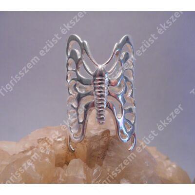 Női ezüst gyűrű kőnélküli,lepke,nagy