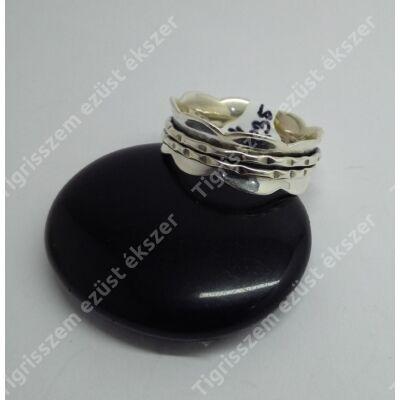Ezüst gyűrű 9 mm széles,hullámos karika,54-es