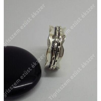 Ezüst gyűrű 8 mm széles,hullámos karika,60-as unisex