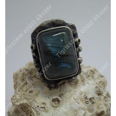 Ezüst  gyűrű labradorit kővel 58-as