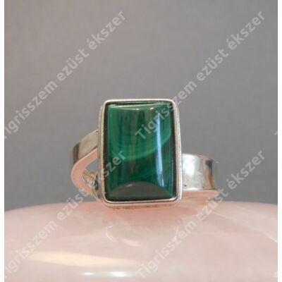 Ezüst  női gyűrű  malachittal  55-ös,állítható