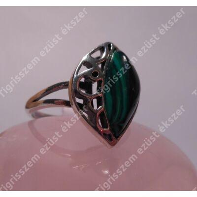 Ezüst  női gyűrű  malachittal  56-os