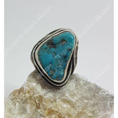 Ezüst gyűrű TÜRKIZ 59-es(állítható)