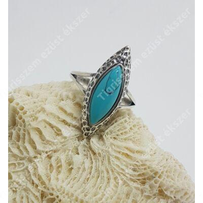 Ezüst gyűrű türkiz ,antikolt 55-ös