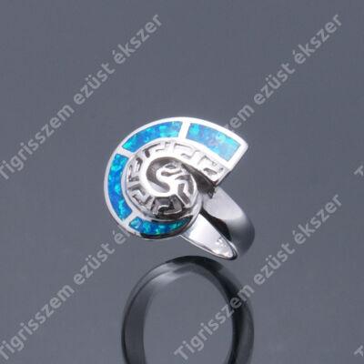 Ezüst gyűrű opállal,csiga 57-es