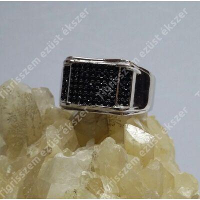 Ezüst ffi gyűrű ONIX   67-es