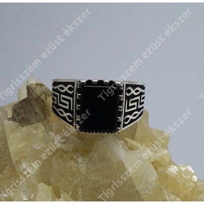 Ezüst gyűrű ffi ,onix 66-os