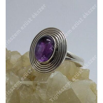 Ezüst gyűrű  AMETISZT 53-as