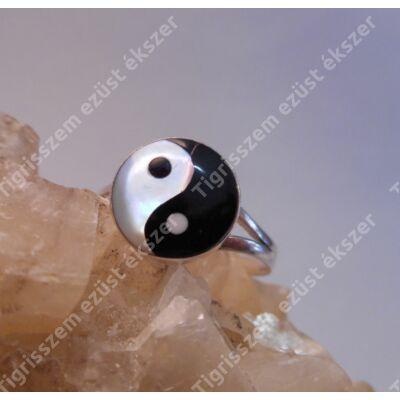 """Ezüst gyűrű gyöngyház Jin-Jang """"52-es"""""""