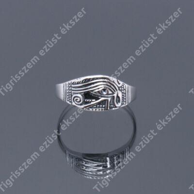 """Női ezüst gyűrű kőnélküli """"HÓRUSZ SZEME"""""""