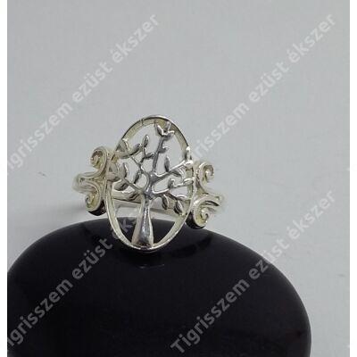 Ezüst női gyűrű 57-es életfa