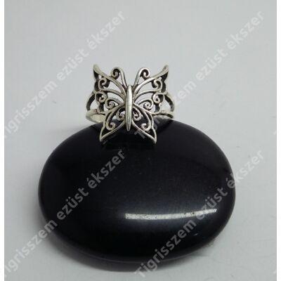 Ezüst női gyűrű,lepke 54-es