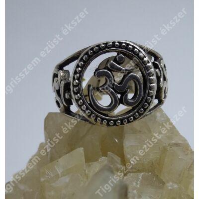 Ezüst gyűrű OM jellel 55-ös