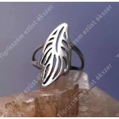 Ezüst női  gyűrű kőnélküli,levél forma.