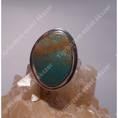 Ezüst gyűrű VALÓDI TÜRKIZZEL
