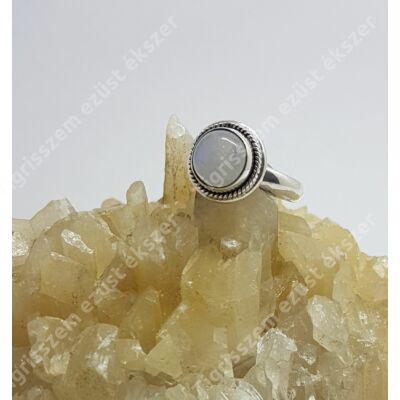 Ezüst HOLDKŐ gyűrű 52-es