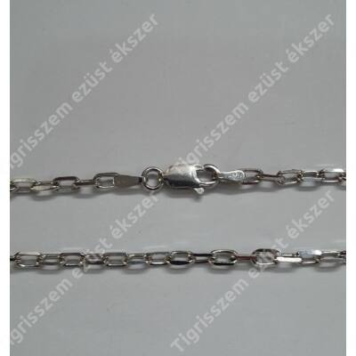 Ezüst  lánc unisex,reszelt anker,60cm  ródiumos