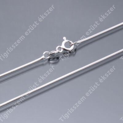 c15f217f0 Ezüst lánc női,hengeres kígyó 50 cm