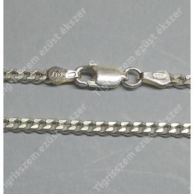Ezüst  lánc unisex,pancer ,közepes 50 cm
