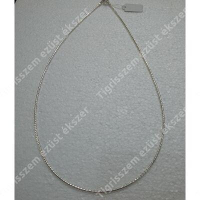 """Ezüst  lánc """"fél merev"""" vésett kígyó 42 cm"""