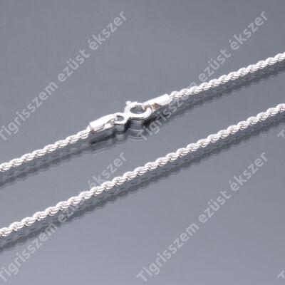 Ezüst   női nyaklánc,walles ,csavart 80 cm
