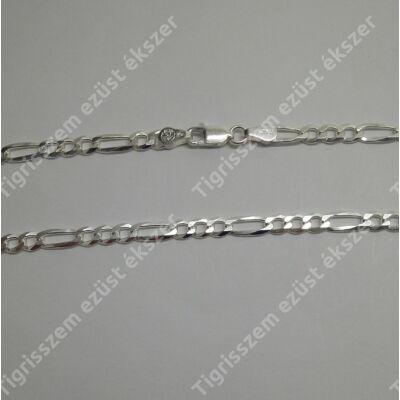 Ezüst  lánc, férfi  ,figaró 50 cm