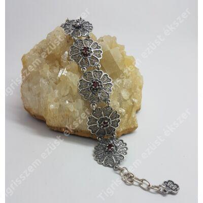 Ezüst karkötő CSEH GRÁNÁT kővel
