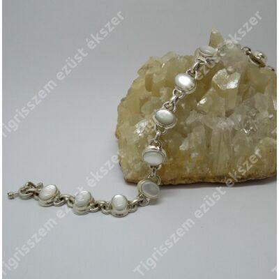 Ezüst gyöngyház karkötő