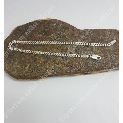Ezüst férfi karkötő,karlánc,pancer 21 cm