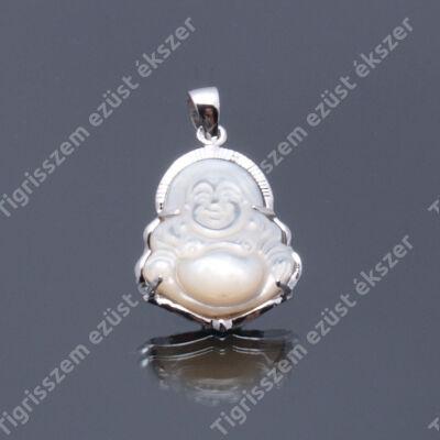 Ezüst medál  gyöngyház  buddha