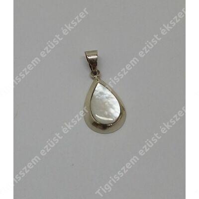 Ezüst gyöngyház medál csepp forma,kicsi