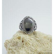 Ezüst gyűrű hematit  kővel  63-as