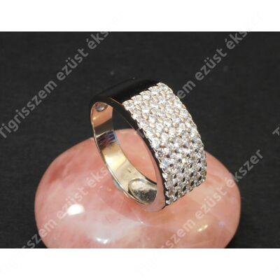 Ezüst gyűrű ,női,  fehér cirkóniával  60-as
