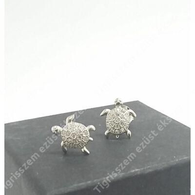 Ezüst fülsróf teknős ,cirkónia kövekkel
