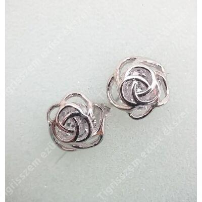 Ezüst fülbevaló rózsa