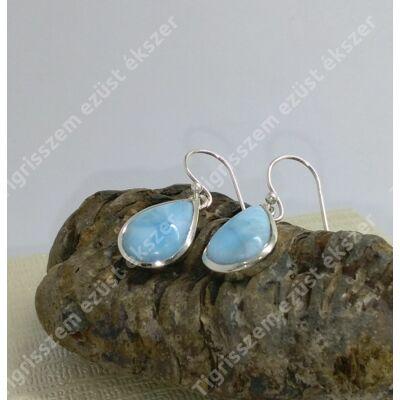 Ezüst fülbevaló LARIMÁR kővel,csepp 2