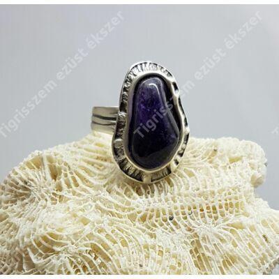 Ezüst gyűrű AMETISZT kővel 61-es