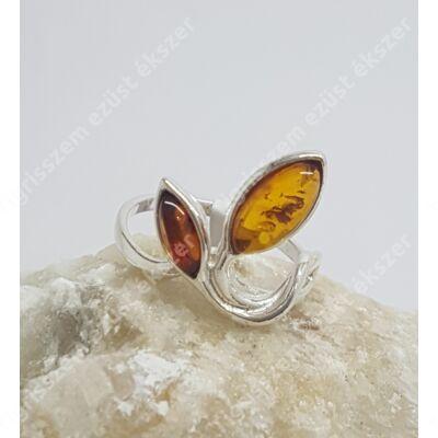 Ezüst gyűrű BOROSTYÁN 61-es