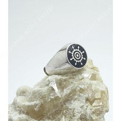 Ezüst ffi pecsét gyűrű 63-as
