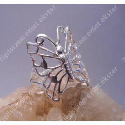 Női ezüst gyűrű kőnélküli,lepke,kicsi