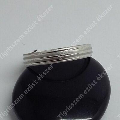 Ezüst karika gyűrű 5 mm széles, 66-os