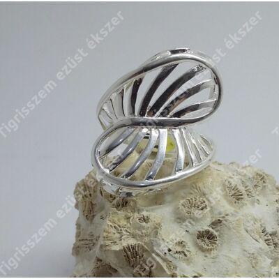 Ezüst gyűrű  kő nélkül  53-as