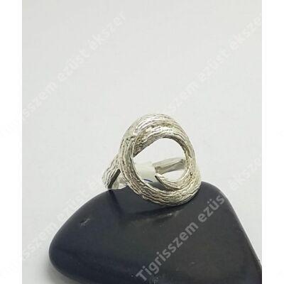 Ezüst gyűrű kör 54-es