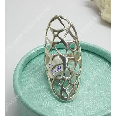 Ezüst gyűrű,áttört  50-es
